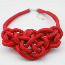 red big necklace images Hot red statement braided rope bib necklace wholesale yiwuproducts jpg