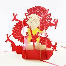 3d bruce lee memorial card pop up greeting cards handmade kirigami