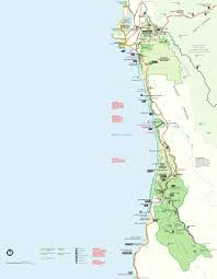 Map Of The Coast Of California Gold Bluffs Beach U0026 Campground Trinidad Mckinleyville Orick