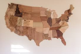 amazoncom wooden map united states map wood wall wooden