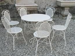furniture wrought iron patio set with excellent white wrought