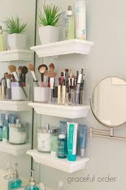 organizing ideas for bathrooms small bathroom shelves ideas