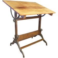 Artist Drafting Table Vintage Dietzgen Industrial Wood Folding Artist Drawing Drafting