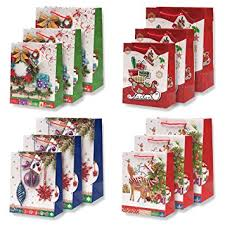 christmas gift bags 12 pack beautiful glitter pop up christmas gift bags