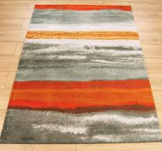 Orange Modern Rug Boca Bc12 Oslo Stripe Orange Rugs 120 X 170cm Orange Rugs