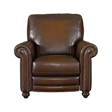 Recliner Chair Sizes Old World Brown Leather Recliner