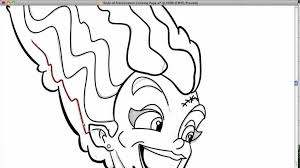 bride frankenstein coloring making bebo pandco