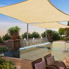 2 pack sun shade sail patio outdoor canopy uv block top cover