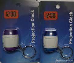 light projection alarm clock best mini led keychain laser digital time clocks light projection