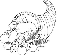 thanksgiving black and white harvest cornucopia black and white