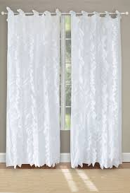 Shabby Chic White Curtains Panel Pair Shabby Chic White Cotton Voile Waterfall Curtains