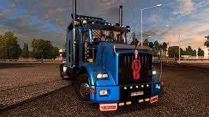 kenworth truck interior kenworth t800 interior dlc cabin u0026 flags v2 3 1 24 x for ets