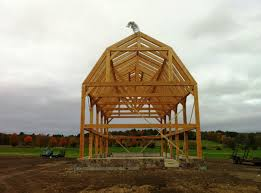 timber frame gambrel roof barn home building inspiration