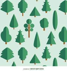 20 flat trees varied kinds vector