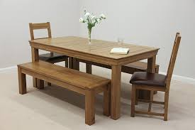Oak Dining Table Bench French Farmhouse 6ft Solid Oak Dining Table 2 X 4ft 11