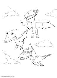 dinosaur train coloring funycoloring
