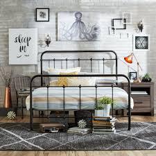 Bedroom Furniture Metal Headboards Queen Size Bed Frame Metal Headboard Footboard Adjustable Height