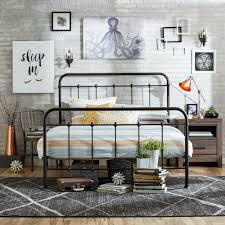 Metal Bed Frame Headboard Attachment Queen Size Bed Frame Metal Headboard Footboard Adjustable Height