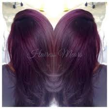 black hair to raspberry hair black raspberry sangria lightened to level 9 dark red violet with