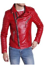 mens textile motorcycle jacket padded sleeve red leather motorcycle jacket