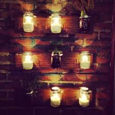 Mason Jar Wall Planter by Mason Jar Candle Holders U0026 Planters On My Back Porch Diy