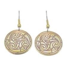 most hypoallergenic earrings celtic brass earrings by nwtreasuretrove