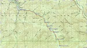 Smoky Mountain National Park Map American Travel Journal Little River Trail To Goshen Prong Trail
