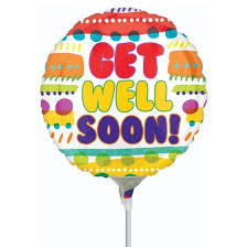 get well soon baloons get well soon balloon on stick s florist