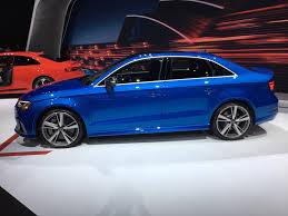 audi rs3 blue 2017 nyias audi rs3 sedan to take on bmw m2