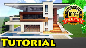 minecraft easy modern house mansion tutorial 4 download