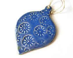 pottery ornament etsy