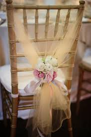 Romantic Decor And More Tulle Chair Decor A Romantic Capella Wedding Filled With Baby U0027s