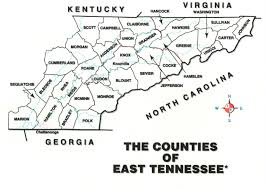 Tennessee Map With Counties by Variety Of Eastern Tennessee About Variety