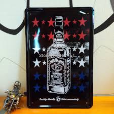 aliexpress mobile global online shopping for apparel phones a bottle of jack daniels whiskey wall sticker 20 30cm metal painting home bar pub cafe wall decor
