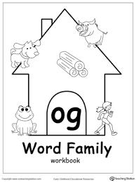 og word family workbook for kindergarten myteachingstation com