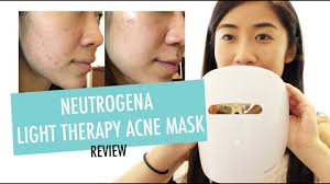 neutrogena light therapy acne mask before and after neutrogena light therapy acne mask review youtube