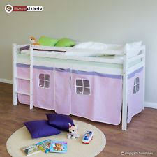 Mid Sleeper Bunk Bed Seconique 3 Feet Single Lollipop Mid Sleeper Bunk Bed White U0026 Pink