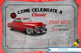 car birthday party invitation men u0027s birthday invitation