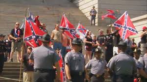 Black Guy With Confederate Flag Kkk Black Panther Group Clash Over Confederate Flag Outside South