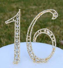 rhinestone number cake toppers gold number cake toppers 5 rhinestone sweet sixteen bling topper