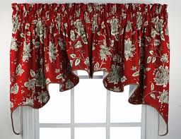 red kitchen curtains and valances black picture pretentious design
