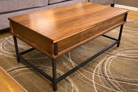 coffee table hinged top hinged coffee table how to make a with