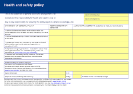health and safety policy risk assessment template hashdoc