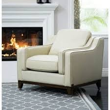 Cream Leather Armchairs Cream Leather Living Room Chairs Shop The Best Deals For Nov