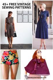 design pattern of dress free vintage sewing patterns