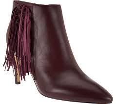 womens fringe boots target marc fisher boots high heels moccasins more qvc com