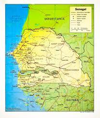 Dakar Senegal Map Senegal Map Jpg