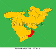 middle east map gulf of oman gulf countries stock images royalty free images vectors