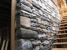 Staircase Wall Design by Interior Design Stone Wall With Simple Exposed Rustic Stone Wall