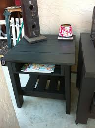 How To Make End Tables Wooden by End Table Made From Pallets Wood Pallet Furniture Diy